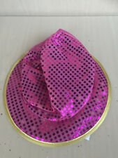 top hat GLITTER sequence gay party costume halloween King NEW pink
