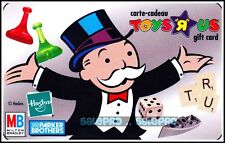 TOYSRUS FAMOUS MONOPOLY BOARD GAME RARE BILINGUAL COLLECTIBLE GIFT CARD