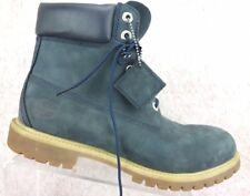 Timberland Classic Mono Chromatic Blue Nubuck Leather Work Boot Shoe Mens 11 M
