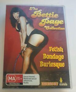 The Bettie Page Collection DVD Teaserama Varietease Bondage Queen 100 Girls NTSC