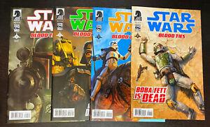 STAR WARS Blood Ties Boba Fett Dead (2012 Dark Horse) -- #1 2 3 4 -- FULL Set