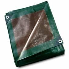 12 Mil Heavy Duty Tarp Green Brown Reversible Tarpaulin Water Resistant UV Cover