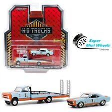 Greenlight 1:64 1967 Chevrolet C-30 Ramp Truck Gulf & 1967 Chevrolet Camaro Gulf