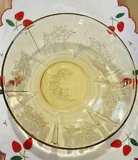 """VINTAGE AMBER SHARON CABBAGE ROSE SERVING VEGETABLE BOWL 8-1/2"""""""