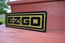 EZ-GO Golf Cart SIGN Camper Mechanic Lift Campground Garage Advertising Logo