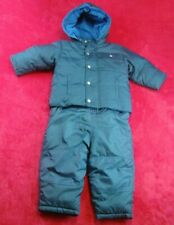 Lot Baby Gap Boys Blue Down Hooded  Puffer Coat Jacket & Snow Pants 18-24 Months