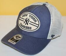 NWT New York Yankees '47 Brand MVP Hudson Patch Mesh Trucker Snapback Hat *H4