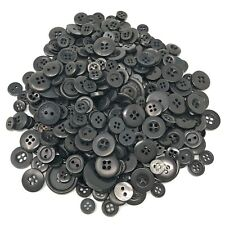 Black 100 Gram Mix Acrylic & Resin Buttons For Cardmaking Embellishments