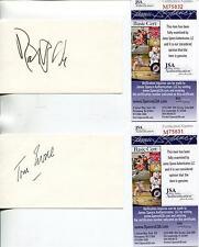 BARETTA TV CAST ROBERT BLAKE TOM EWELL SIGNED CARDS AUTOGRAPH JASA AUTHENTICATED