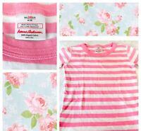 Hanna Andersson Girls Sz 10 Pink Striped Top Long Sleeve 100% Organic Cotton