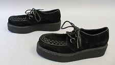 Demonia Men's V-Creeper-502S Vegan Suede Sneakers MW7 Black Size US:10 UK:9.5