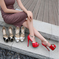 Women Sexy High Heels Cross Strap Sandal Nightclub Peep Toe Platform Stiletto Sz