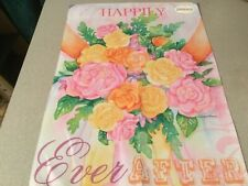 "New Evergreen Garden Flag ""Happily Ever After"" Outside Wedding Greeter Decor"