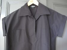 Vintage Apara black silk/linen shirt /tunic dress Size 12