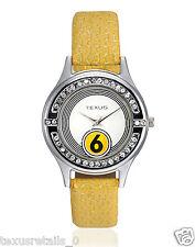 Texus(TXWW013) Yellow Strap Watch For Women/Girls