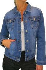 Denim Regular Size Cropped Coats, Jackets & Waistcoats for Women