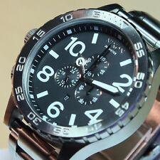 NEW NIXON 51-30 Chrono Silver / Black Watch A083-000 A083000 MEN GIFT SALE! NICE