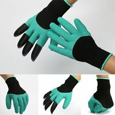 SALE~Garden Gloves for Digging&Planting W/ 4 ABS Plastic Claws Gardening Gloves