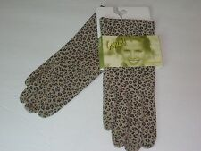 Ladies Woman's Genuine Suede Leather Leopard Gloves,M/L