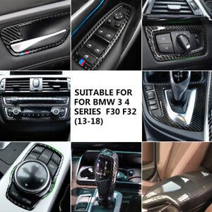 For BMW F30 Carbon Fiber Console Armrest/Gear Shift/Headlight/Door Handle Cover