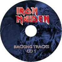 IRON MAIDEN GUITAR BACKING TRACKS 2x AUDIO CD SET BEST OF GREATEST HITS MUSIC