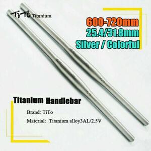 TITO MTB Bike Handlebar 25.4/ 31.8mm Titanium Cycling Bicycle Flat Bar 600-720mm