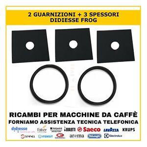 2 GUARNIZIONI + 3 SPESSORE ORIGINALE MACCHINA CAFFE BORBONE DIDIESSE FROG