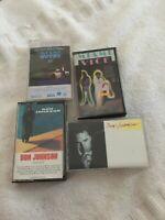 2 Miami Vice, 2 Don Johnson Cassette Tapes:Soundtrack, Heartbeat, Let It Roll