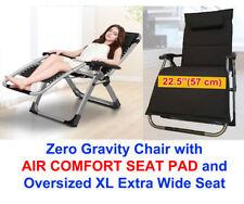 "FOUR SEASONS Extra Wide Seat (Width: 22.5"") Zero Gravity Chair W/ Padded Cushion"