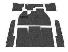 Standard VW Front Carpet Kit, Black Loop, w/ Footrest, Beetle Sedan 1958-1968