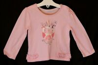 Baby Girls Primark Pink Embroidered Cute Owl Long Sleeve Top Age 9-12 Months