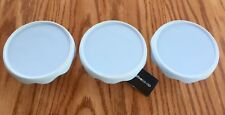 3 Blue Stoneware Individual Cupcake Stands, Plates ,Displays Creative Co-Op