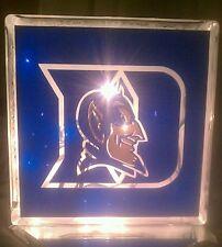 Lighted Duke University Glass Block Light~ Home Decor~Gift~Lamp