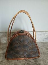 1940's Hand Carved Wooden Purse