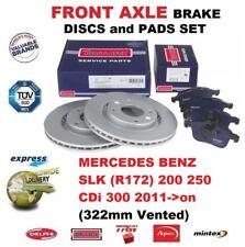 FOR MERCEDES BENZ SLK R172 200 250 CDi 300 2011->on FRONT BRAKE PADS + DISCS SET