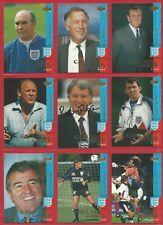 UPPER DECK ENGLAND 1997 FOOTBALL CARD SET inc BOBBY ROBSON AUTOGRAPH CARD (ON03)