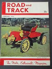 Vintage Road & Track Magazine February 1951