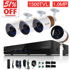 ELEC Wired Outdoor Surveillance Security Camera System 8CH 960H 1500TVL CCTV DVR