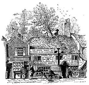 Unmounted rubber stamp Village High Street Pub
