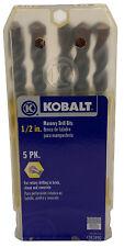 Kobalt 5 Pack 12 Masonry Drill Bitsfor Brick Stone Concrete 6 Long