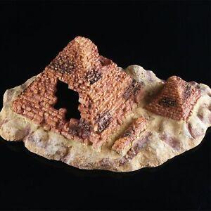 Aquarium Pyramid Decorations Small Cave Egyptian Stone Fish Tank Ornament
