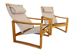 Danish Mid-Century Børge Jensen & Sønner 'Safari' armchairs Danish Mid Cent