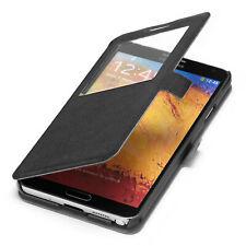Samsung Galaxy Note 3 Hülle Tasche Schutz Hülle Etui Cover Wallet Case schwarz