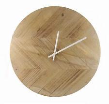 """Smith & Hawken Rustic Wood  Wall Clock 15.5"""""""