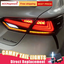 For Toyota Camry LED Taillights Assembly Dark / Red LED Rear Lamps 2018