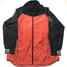 NWT Adidas Mens Hooded Windbreaker Woven Shell Rain Jacket DM1816 Size 2XL