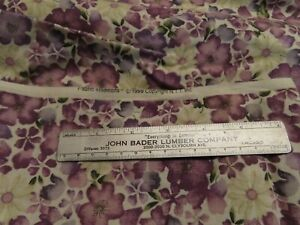 Cotton Fabric Purple Floral 3yds Fabric Traditions
