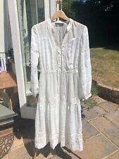 karen millen white floaty boho style dress, size 12. Never worn. With under slip