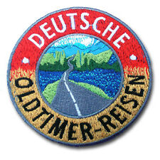 Deutsche Oldtimer Reisen Embroidered Patch Iron on Aufnäher Abzeichen Racing