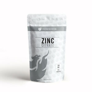 Zinc Citrate 30mg x 120 Tablets   Triple Strength, 300% RDA